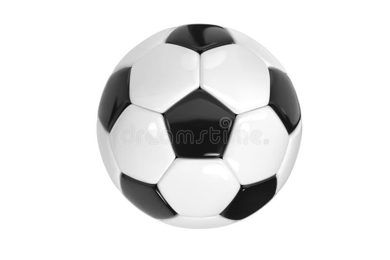 Ρεαλιστική σφαίρα ποδοσφαίρου ή σφαίρα ποδοσφαίρου στο άσπρο υπόβαθρο τρισδιάστατη διανυσματική σφαίρα ύφους που απομονώνεται στο ελεύθερη απεικόνιση δικαιώματος