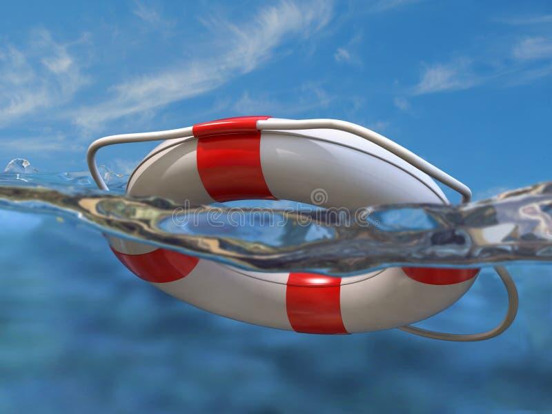 ύδωρ ζωνών ασφαλείας απεικόνιση αποθεμάτων