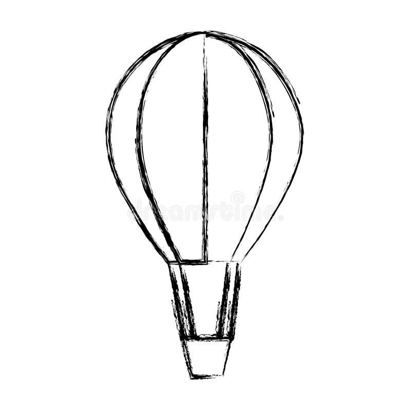 Ύφος μυγών μεταφορών μπαλονιών αέρα Grunge διανυσματική απεικόνιση