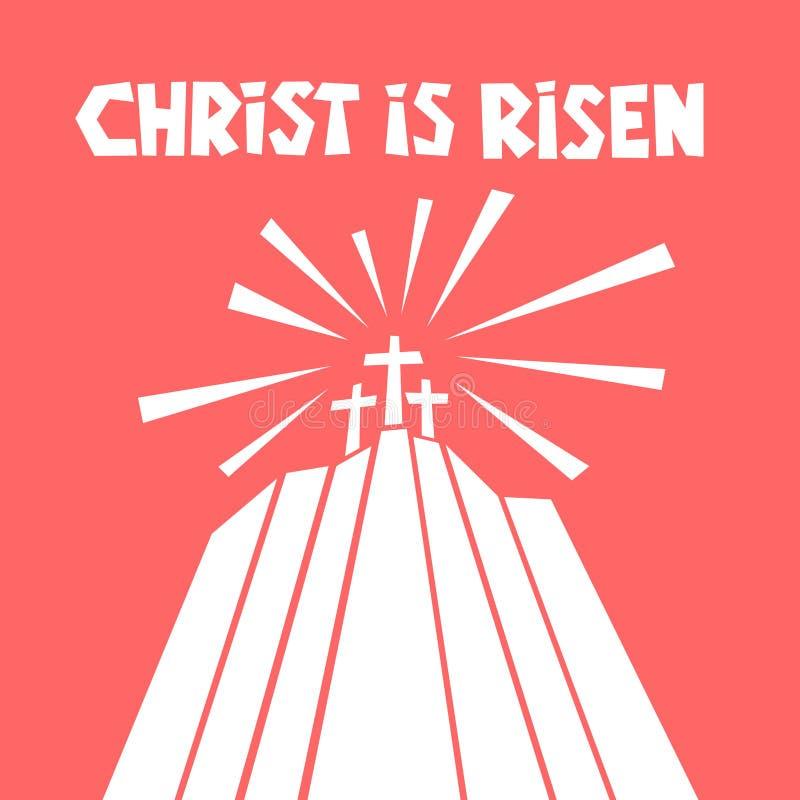 όλο το κλειστό Πάσχα επιμελείται eps8 τη δυνατότητα μερών απεικόνισης Τρεις σταυροί σε Calvary ελεύθερη απεικόνιση δικαιώματος