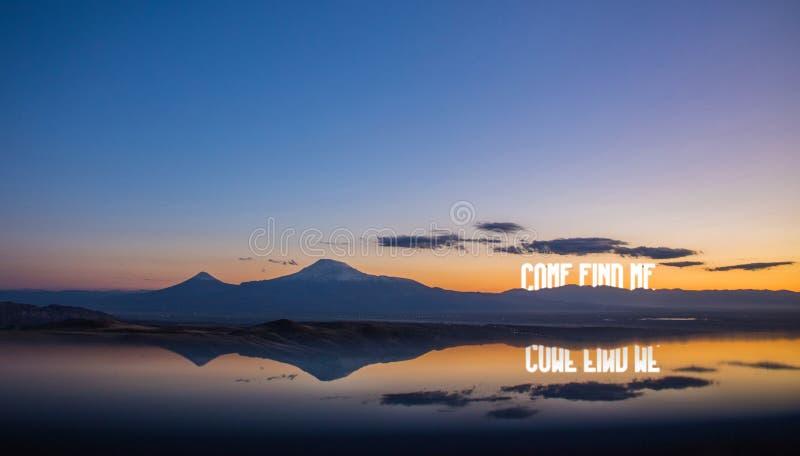 Όμορφος πυροβολισμός των βουνών διανυσματική απεικόνιση