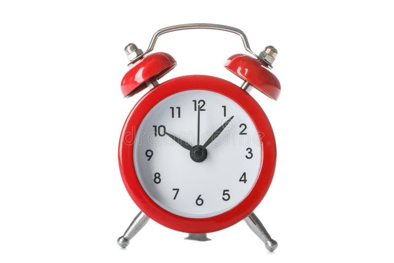 Όμορφο αναδρομικό ξυπνητήρι που απομονώνεται στοκ φωτογραφία με δικαίωμα ελεύθερης χρήσης
