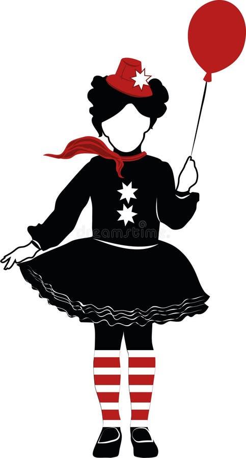 Όμορφο κορίτσι τσίρκων στοκ φωτογραφίες με δικαίωμα ελεύθερης χρήσης