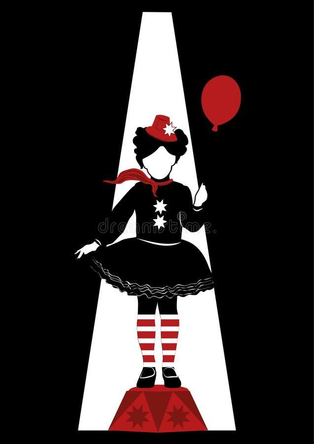 Όμορφο κορίτσι τσίρκων στοκ εικόνα με δικαίωμα ελεύθερης χρήσης
