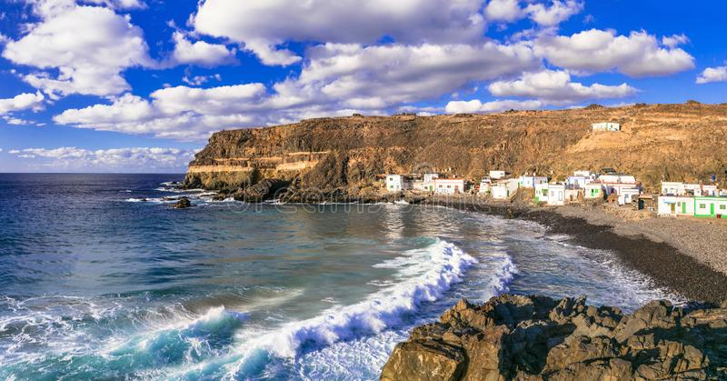 Όμορφο ψαροχώρι Puertito de Los Molinos Κανάρια νησιά tenerife στοκ εικόνες με δικαίωμα ελεύθερης χρήσης