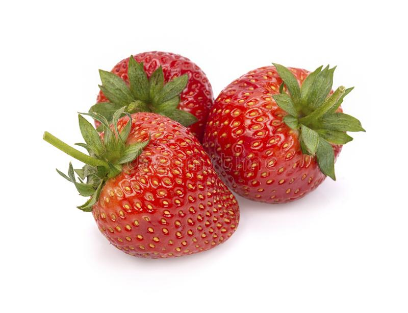 Ώριμες φράουλες από τον κήπο, που απομονώνεται στο άσπρο υπόβαθρο στοκ εικόνα