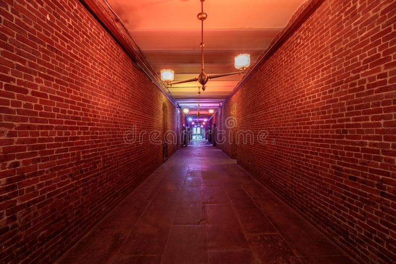 Σαν Φρανσίσκο, Καλιφόρνια - 23 Φεβρουαρίου 2019: Υπόγειο των υπόγειων θαλάμων στην παλαιά μέντα του Σαν Φρανσίσκο στοκ φωτογραφία με δικαίωμα ελεύθερης χρήσης