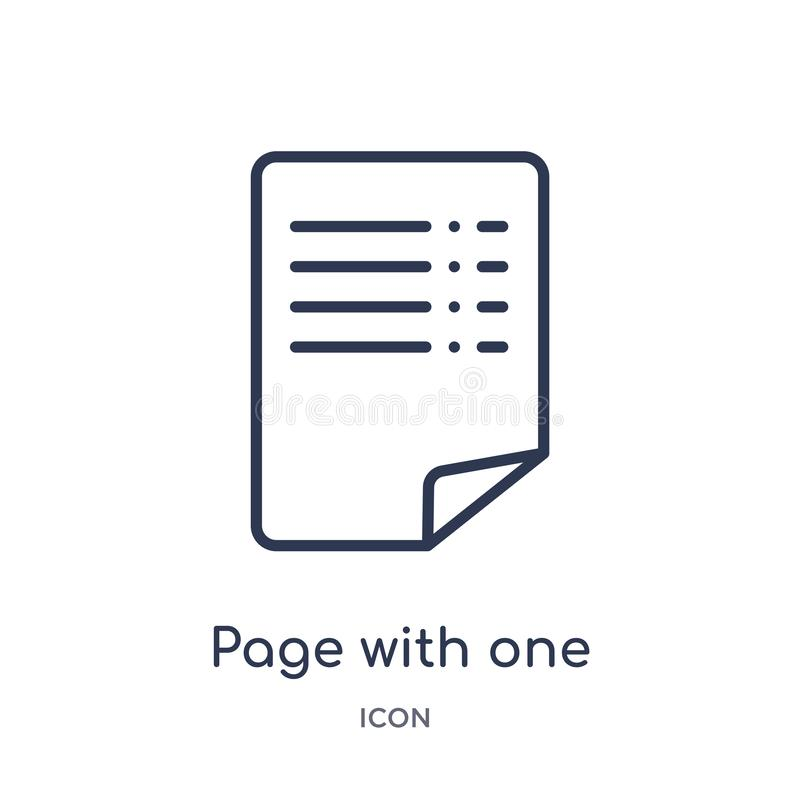 σελίδα με ένα κατσαρωμένο εικονίδιο γωνιών από τη συλλογή περιλήψεων ενδιάμεσων με τον χρήστη Λεπτή σελίδα γραμμών με ένα κατσαρω απεικόνιση αποθεμάτων