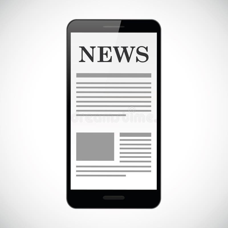 Σε απευθείας σύνδεση ειδήσεις στο smartphone ελεύθερη απεικόνιση δικαιώματος