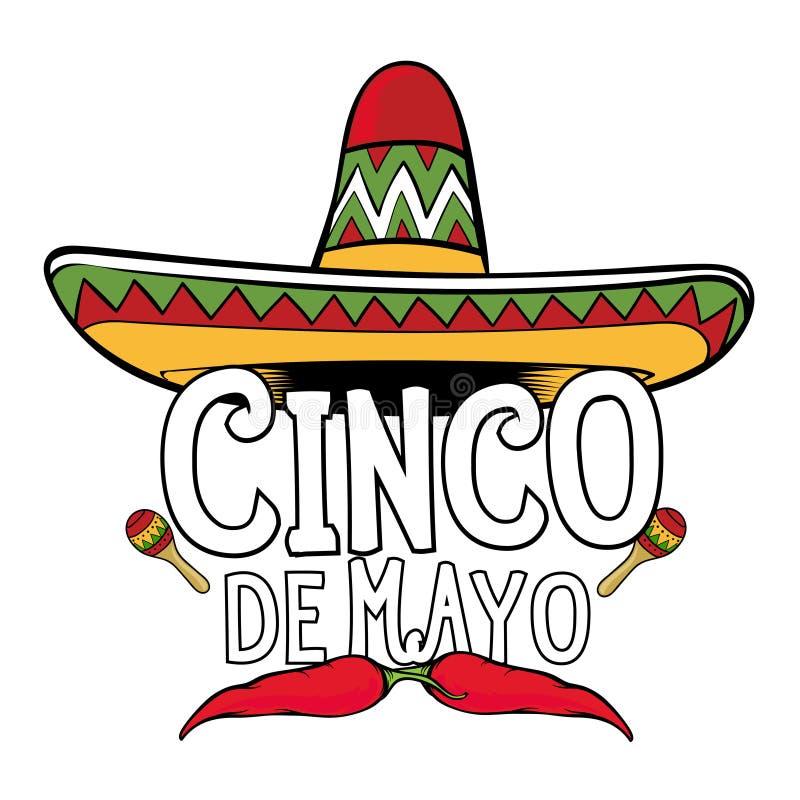 Σημάδι Cinco de Mayo διανυσματική απεικόνιση