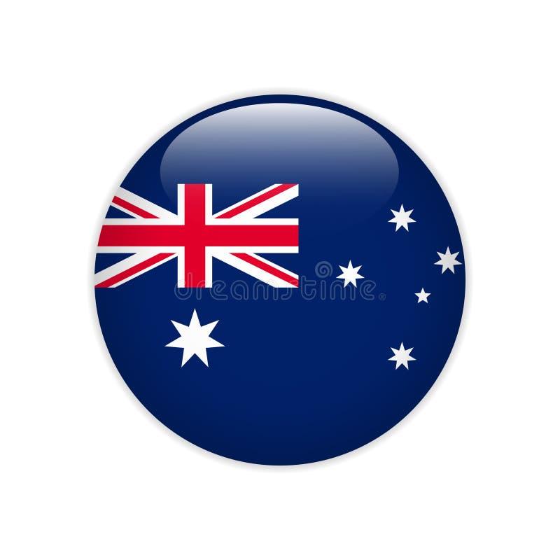 Σημαία της Αυστραλίας πλήκτρο το ΟΝ διανυσματική απεικόνιση
