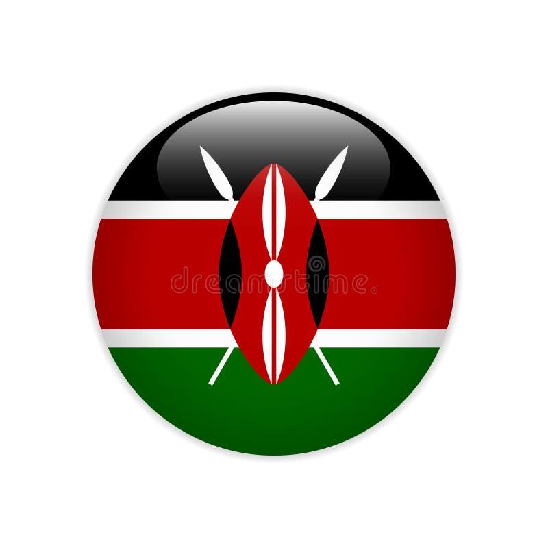 Σημαία της Κένυας πλήκτρο το ΟΝ ελεύθερη απεικόνιση δικαιώματος