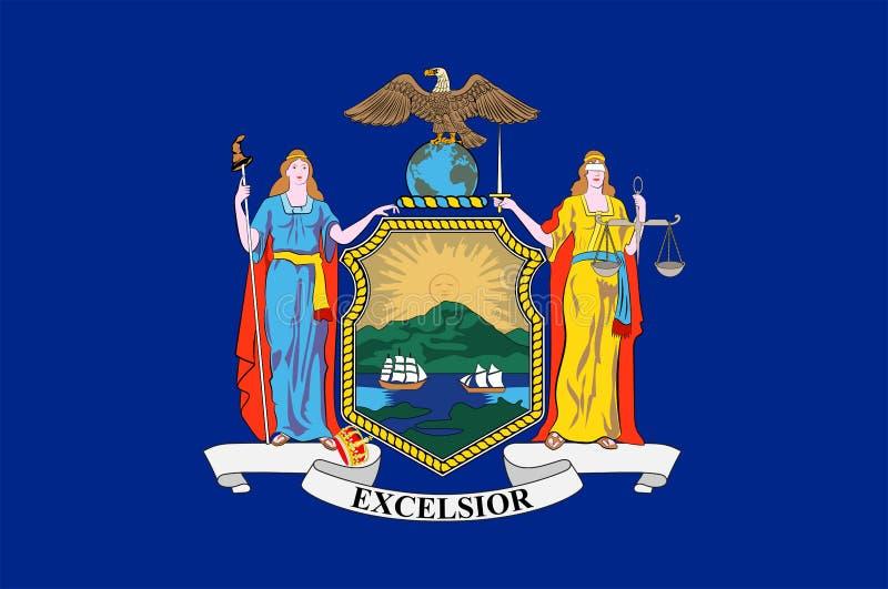Σημαία της Νέας Υόρκης, ΗΠΑ ελεύθερη απεικόνιση δικαιώματος