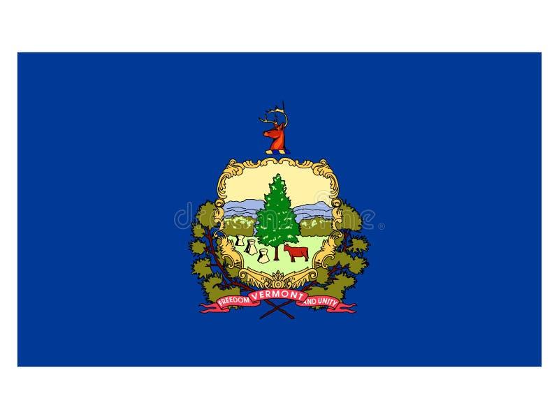 Σημαία του ΑΜΕΡΙΚΑΝΙΚΟΥ κράτους του Βερμόντ απεικόνιση αποθεμάτων