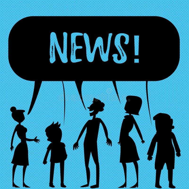 Σημείωση γραψίματος που παρουσιάζει ειδήσεις Έκθεση επίδειξης επιχειρησιακών φωτογραφιών MEDIA πληροφοριών πρόσφατων γεγονότων το απεικόνιση αποθεμάτων