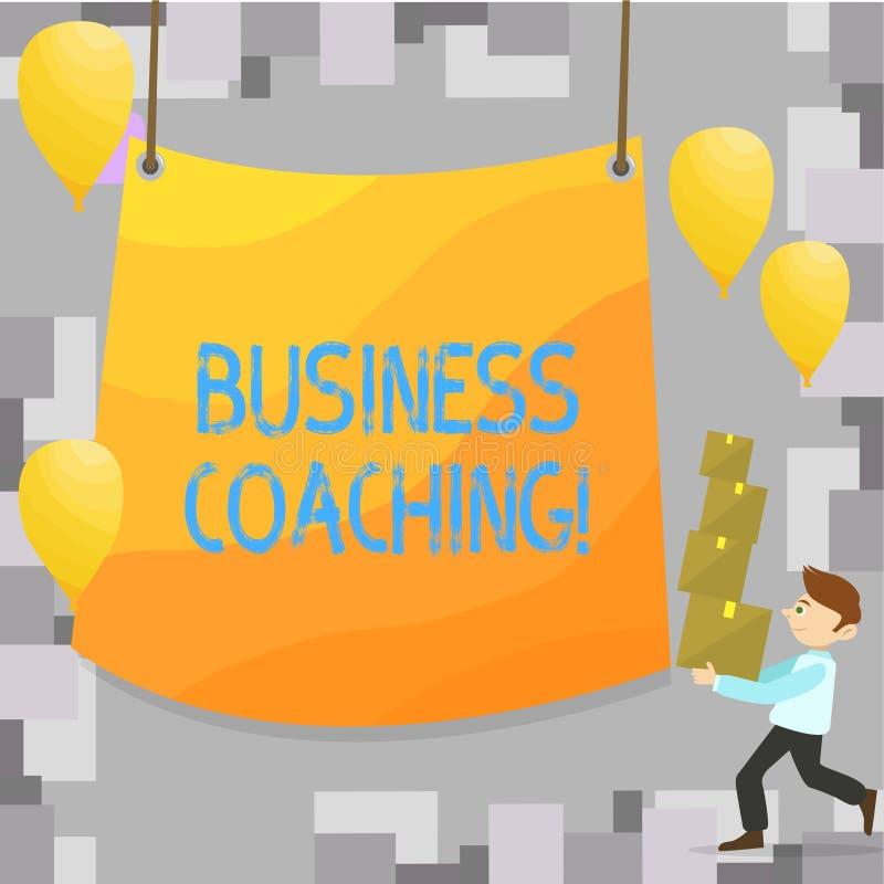 Σημείωση γραψίματος που παρουσιάζει επιχειρησιακή προγύμναση Επιδεικνύοντας συμβουλευτικός εμπειρογνώμονας επιχειρησιακών φωτογρα διανυσματική απεικόνιση