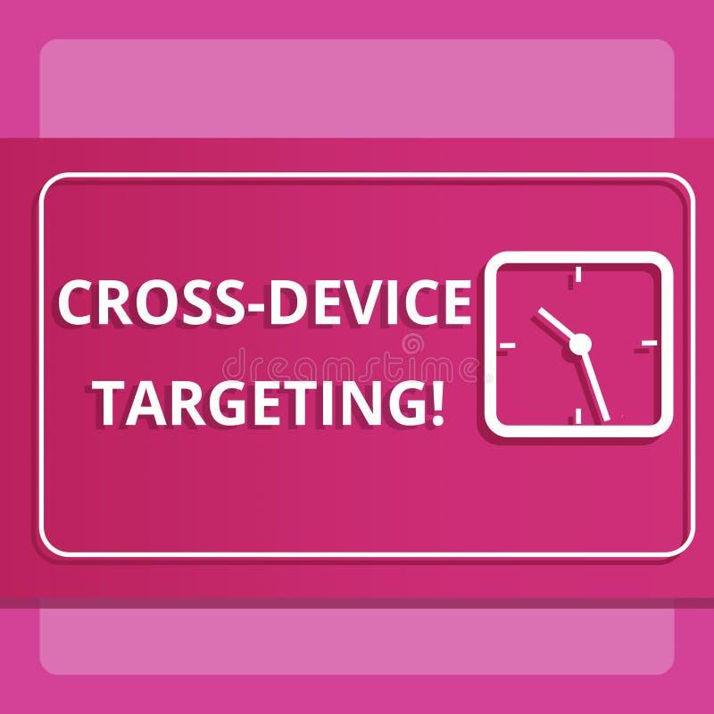 Σημείωση γραψίματος που παρουσιάζει διαγώνια στοχοθέτηση συσκευών Προσδιορισμός επίδειξης επιχειρησιακών φωτογραφιών παραδίδοντας απεικόνιση αποθεμάτων
