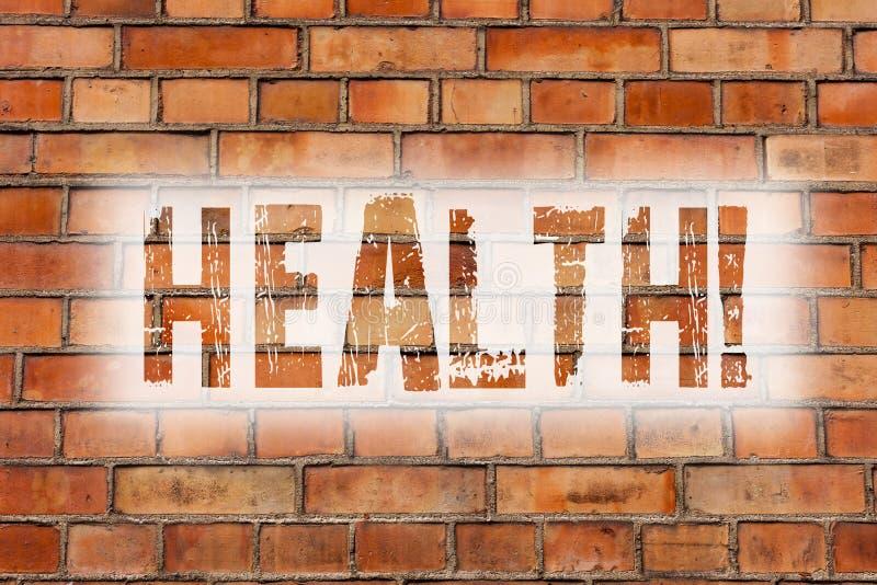 Σημείωση γραψίματος που παρουσιάζει υγεία Επιδεικνύοντας κράτος επιχειρησιακών φωτογραφιών της ύπαρξης απαλλαγμένος από το διανοη στοκ εικόνες