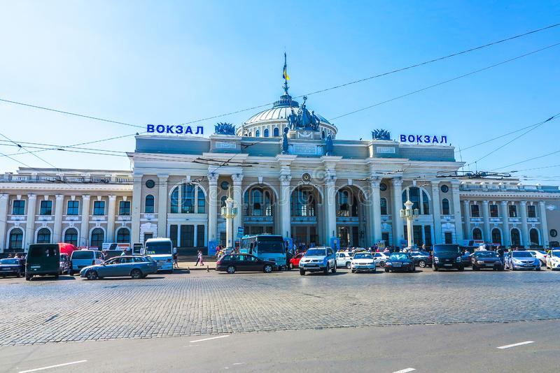 Σιδηροδρομικός σταθμός της Οδησσός στοκ φωτογραφία με δικαίωμα ελεύθερης χρήσης