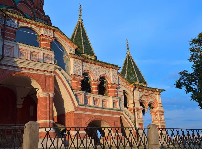 Σκάλα του καθεδρικού ναού του βασιλικού του ST, κόκκινη πλατεία, Μόσχα, Ρωσία στοκ εικόνες με δικαίωμα ελεύθερης χρήσης