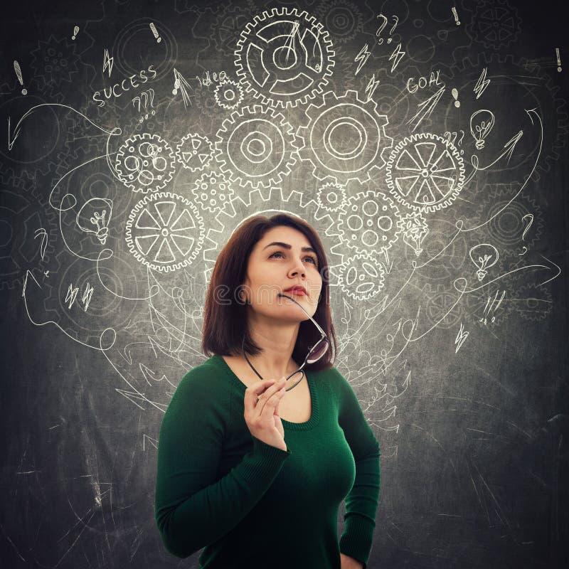 Σκέψη γυναικών απεικόνιση αποθεμάτων
