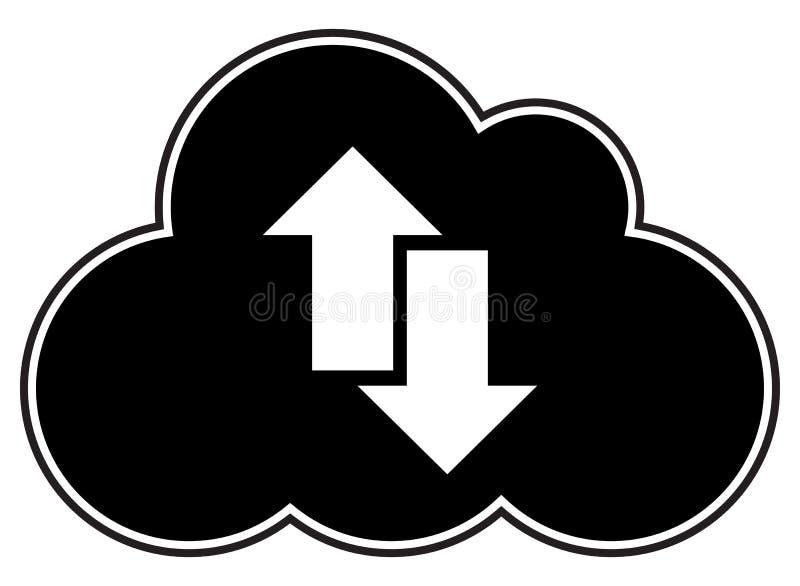 Σκιαγραφία βελών υπολογισμού σύννεφων στοκ εικόνες