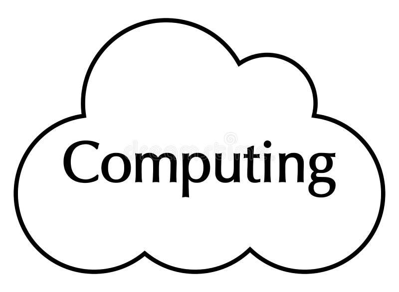 Σκιαγραφία υπολογισμού σύννεφων στοκ φωτογραφίες με δικαίωμα ελεύθερης χρήσης