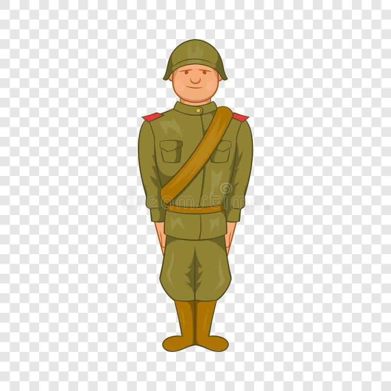 Σοβιετικός ομοιόμορφος του εικονιδίου Δεύτερου Παγκόσμιου Πολέμου απεικόνιση αποθεμάτων