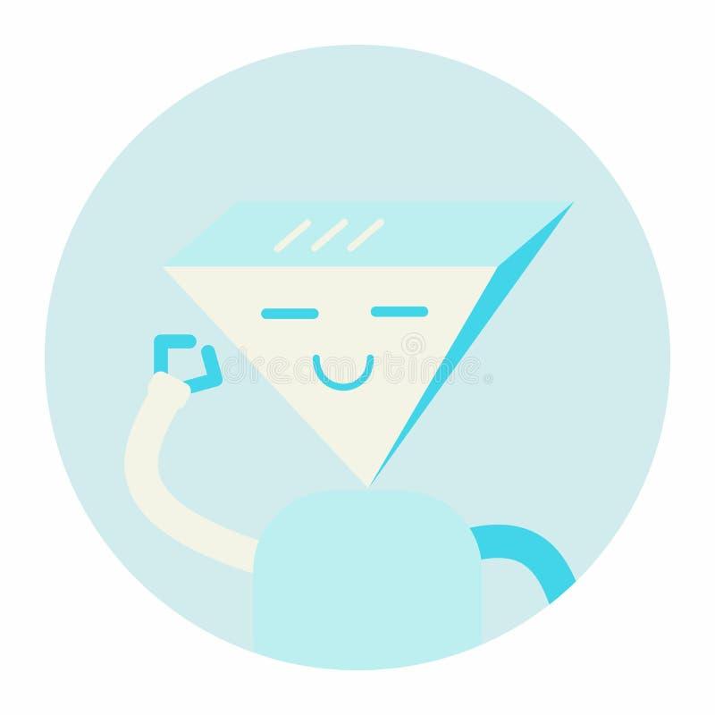Σύγχρονη διανυσματική απεικόνιση εικονιδίων σημαδιών χαρακτήρα συνομιλίας BOT Εικονική βοήθεια στους ιστοχώρους ή τις συνομιλίες ελεύθερη απεικόνιση δικαιώματος