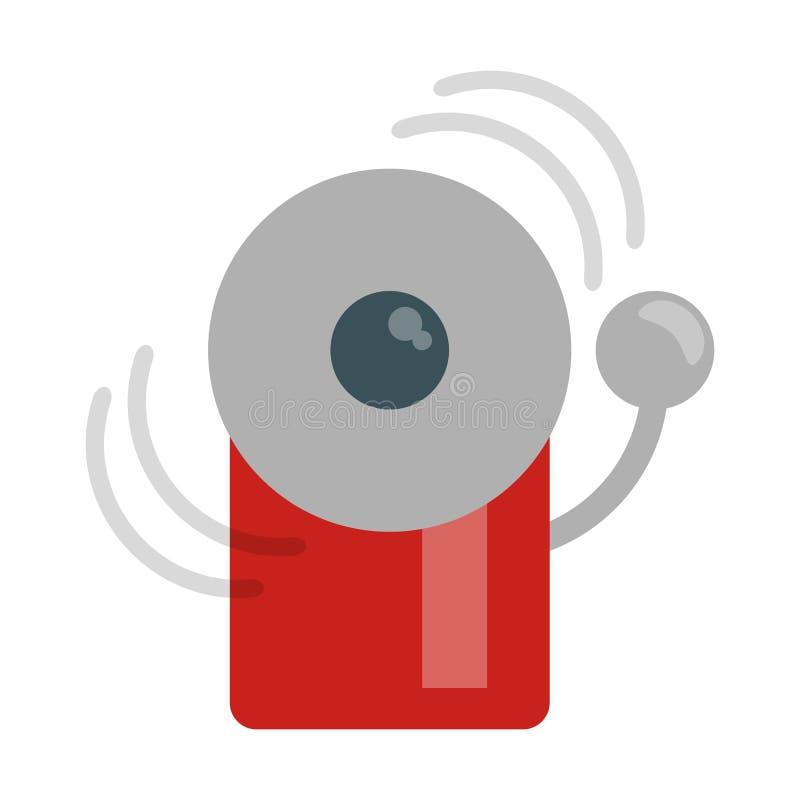 Σύμβολο κουδουνιών έκτακτης ανάγκης πυρκαγιάς διανυσματική απεικόνιση