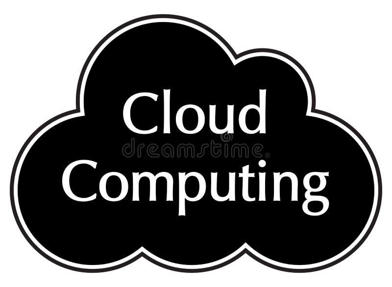 Σύννεφο που υπολογίζει τη μαύρη σκιαγραφία στοκ φωτογραφίες