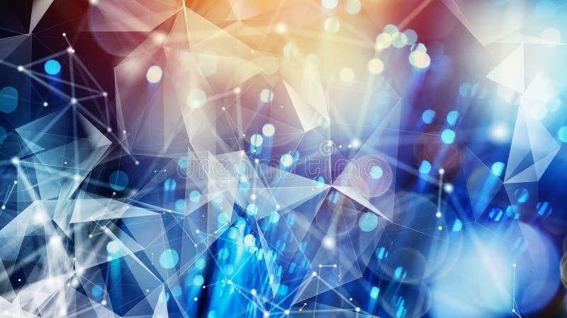 Σύνδεση στο Διαδίκτυο με τη οπτική ίνα Έννοια γρήγορου Διαδικτύου ελεύθερη απεικόνιση δικαιώματος