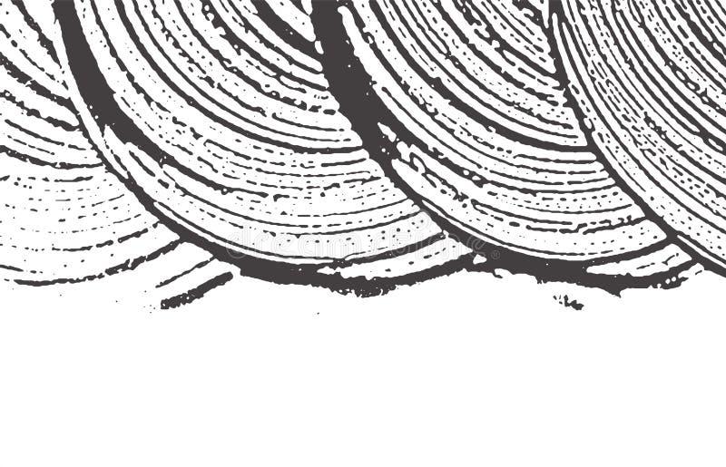 Σύσταση Grunge Μαύρο γκρίζο τραχύ ίχνος κινδύνου Α διανυσματική απεικόνιση