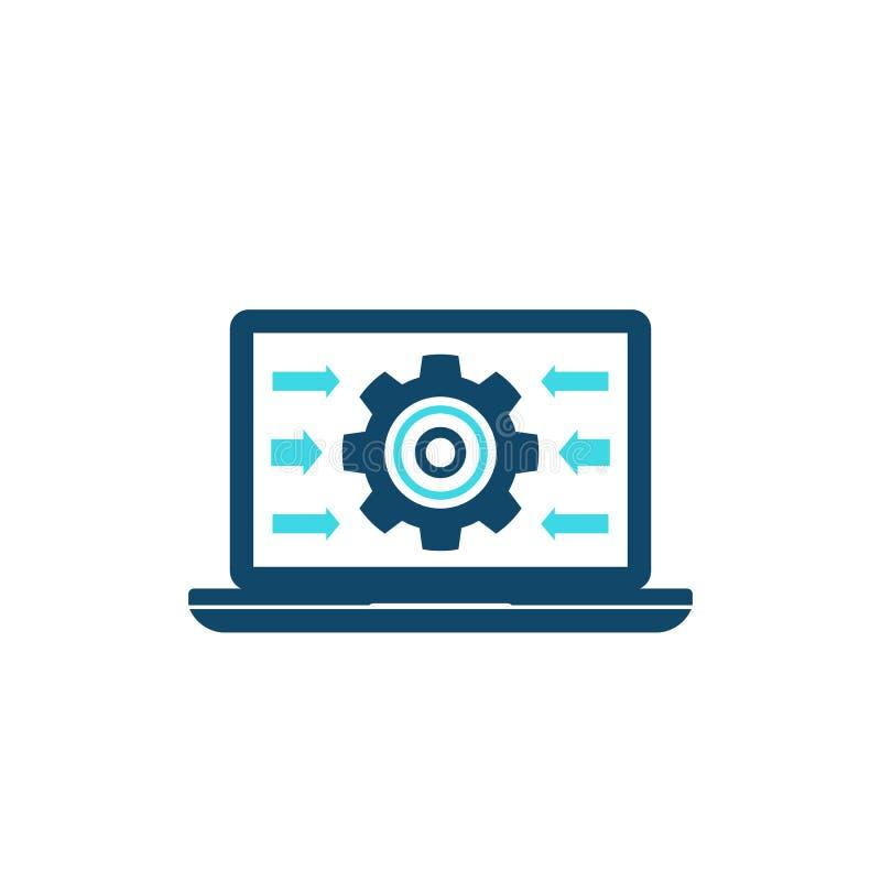 Σύστημα ολοκλήρωσης, διάνυσμα τεχνολογίας υπολογιστών απεικόνιση αποθεμάτων