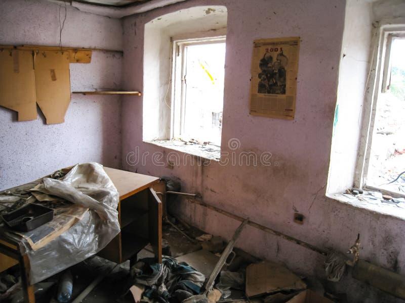 Σώμα και υπόγεια dorm σε Khamovniki Το αρχαίο παλαιό κτήριο έχτισε πριν από τη 19η πλημμύρα αιώνα στοκ φωτογραφία με δικαίωμα ελεύθερης χρήσης