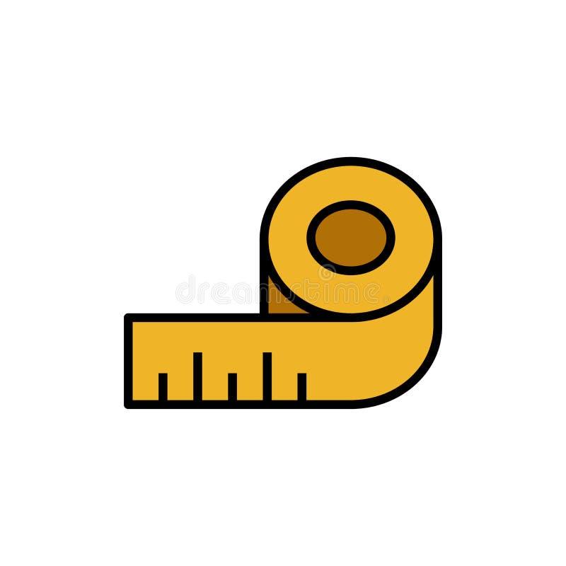 Σώμα που μετρά το εικονίδιο ταινιών ράβοντας σύμβολο μετρητών κυβερνητών απλός γραφικός ελεύθερη απεικόνιση δικαιώματος