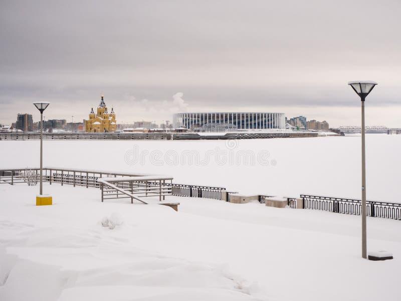 Στάδιο Novgorod Nizhny στοκ φωτογραφίες