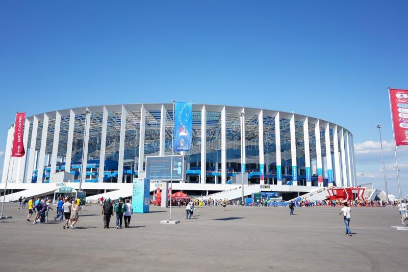 Στάδιο Novgorod Nizhny στο Παγκόσμιο Κύπελλο 2018 της FIFA στοκ εικόνες με δικαίωμα ελεύθερης χρήσης