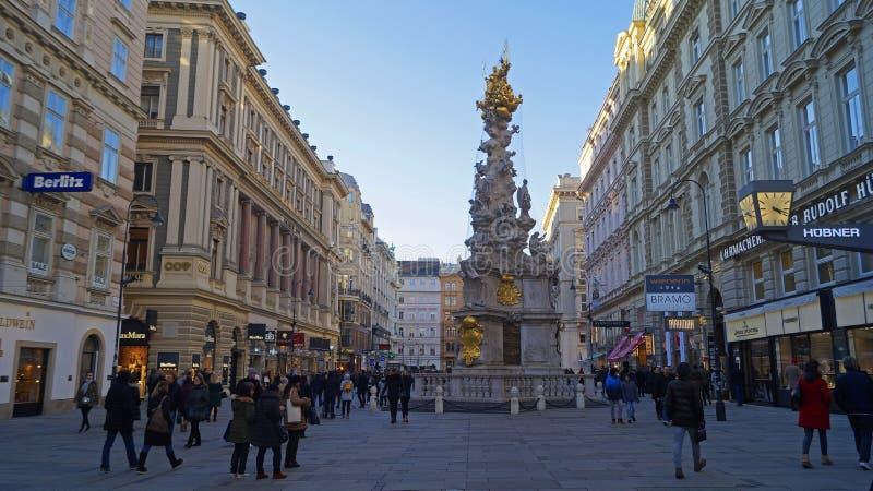 Στήλη Pestsaule πανούκλας στη Βιέννη στοκ φωτογραφία