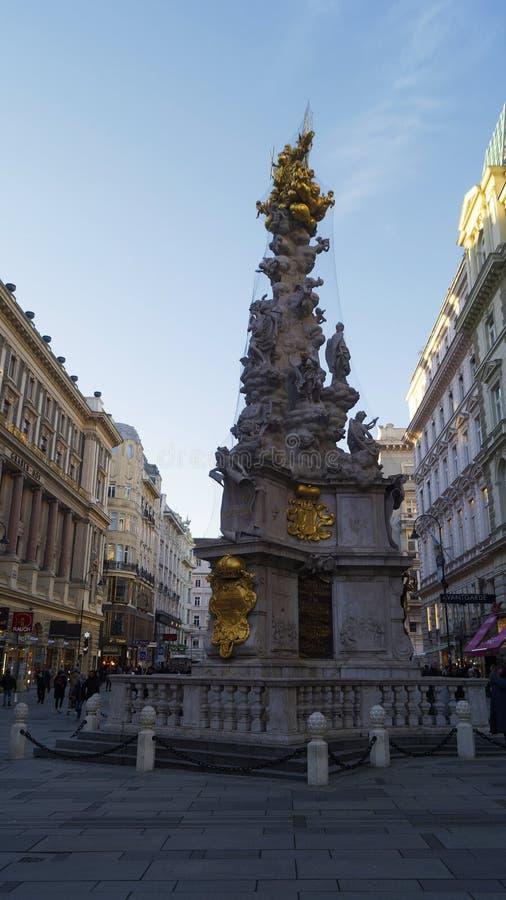 Στήλη Pestsaule πανούκλας στη Βιέννη στοκ φωτογραφίες με δικαίωμα ελεύθερης χρήσης
