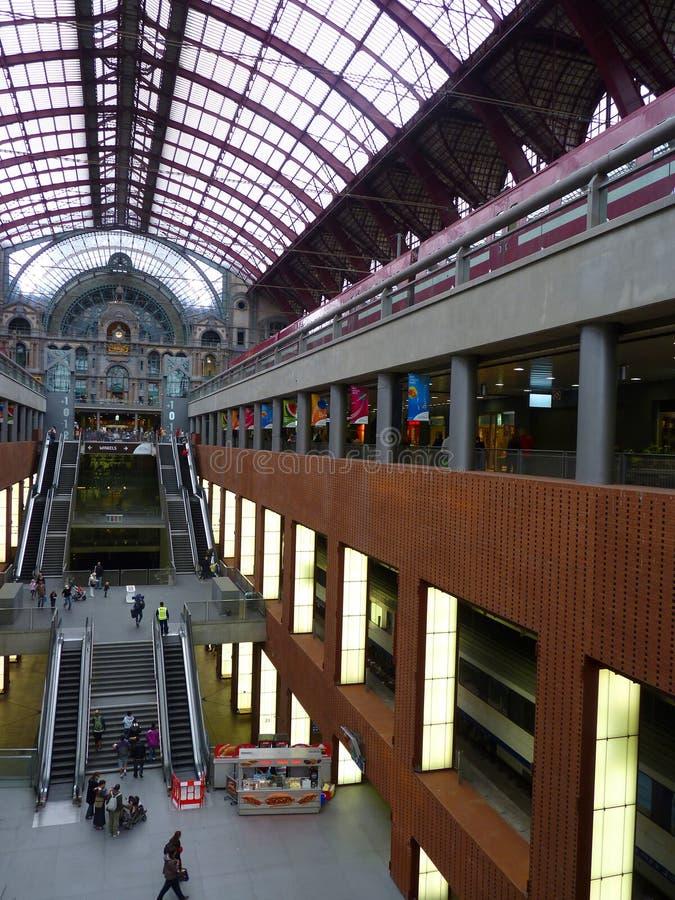 Σταθμός Αμβέρσα ραγών στοκ φωτογραφία με δικαίωμα ελεύθερης χρήσης