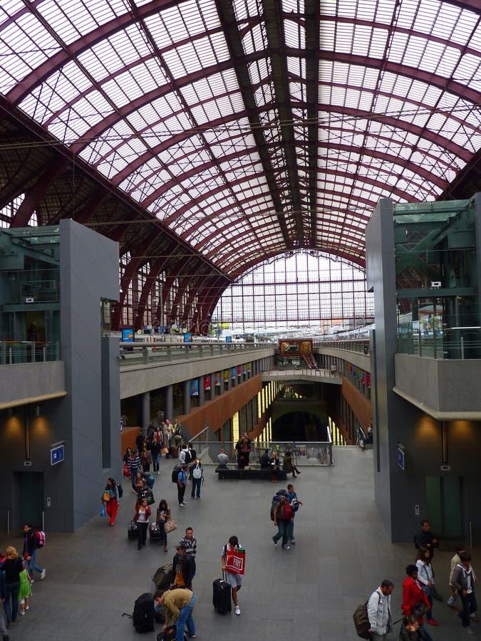 Σταθμός Αμβέρσα ραγών στοκ εικόνα με δικαίωμα ελεύθερης χρήσης