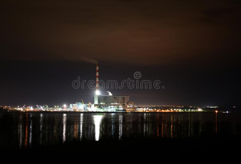 Σταθμός παραγωγής ηλεκτρικού ρεύματος Berezovskaya Gres στοκ φωτογραφία με δικαίωμα ελεύθερης χρήσης