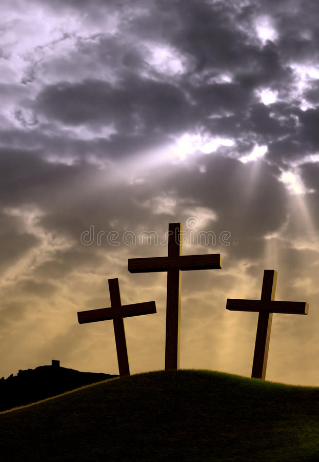 σταυροί τρία ελεύθερη απεικόνιση δικαιώματος