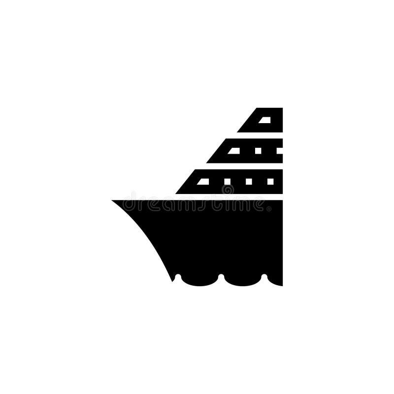 Στερεό εικονιδίων κρουαζιερόπλοιων απόθεμα εικονιδίων οχημάτων και μεταφορών απεικόνιση αποθεμάτων