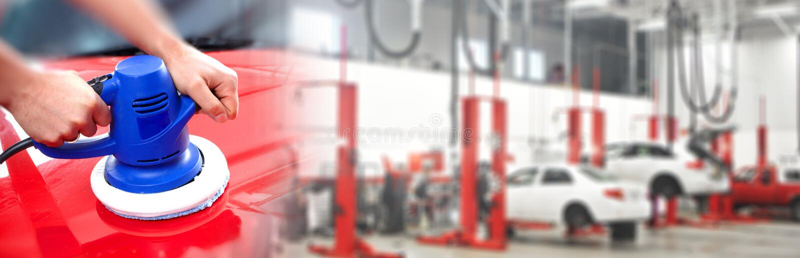 Στιλβωτής αυτοκινήτων χεριών στοκ φωτογραφίες με δικαίωμα ελεύθερης χρήσης
