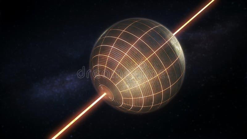Σφαίρα Dyson διανυσματική απεικόνιση