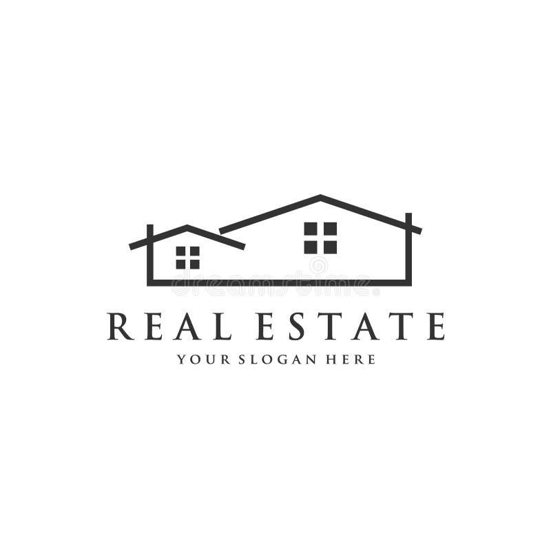 Σχέδια λογότυπων επιχείρησης ακίνητων περιουσιών απεικόνιση αποθεμάτων
