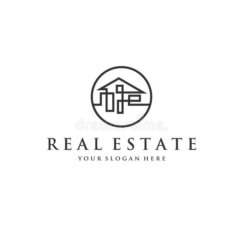 Σχέδια λογότυπων επιχείρησης ακίνητων περιουσιών ελεύθερη απεικόνιση δικαιώματος