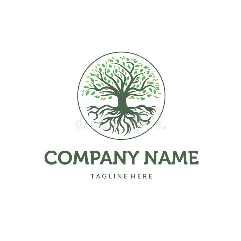Σχέδια λογότυπων δέντρων, διανυσματική απεικόνιση διανυσματική απεικόνιση